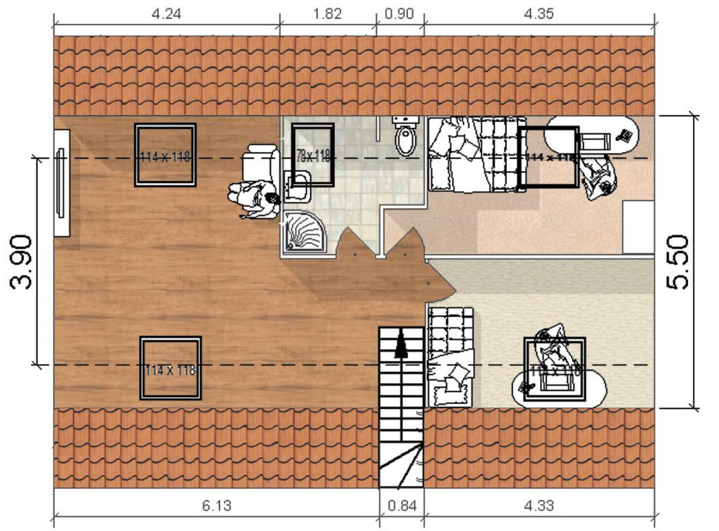 Plan d'aménagement des combles Auray